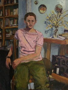 Girl Pink Top by Sophia Dixon, Painting, Principals Purchase Prize 2000